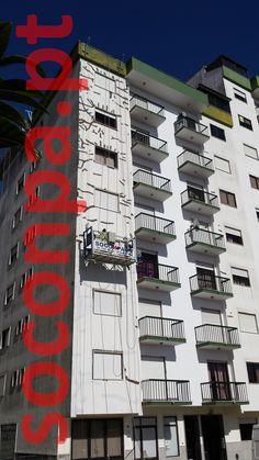 Reparação, isolamento e pintura de edifício com plataformas suspensas - Rio de Mouro
