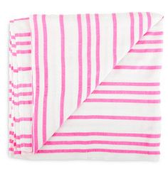 neon pink stripe throw blanket mexican boho