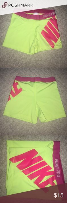 Nike Pros 3 in length! Normally wear a medium, tried a large and it didn't work. (For reference these run small. I am typically an xs in Nike clothing and need a medium in these) Nike Shorts