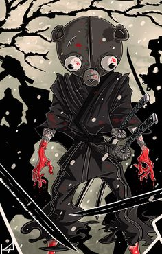 Samurai Anime, Afro Samurai, Samurai Art, Black Artwork, Cool Artwork, Amazing Artwork, Anime Manga, Anime Art, Chest Piece Tattoos