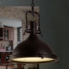 Nautical Pendant Light with Frosted Diffuser - Beautifulhalo.com Garage Lighting, Dining Room Lighting, Outdoor Lighting, Large Pendant Lighting, Industrial Pendant Lights, Hanging Ceiling Lights, Led Ceiling, Nautical Pendants, Pallet Wall Art