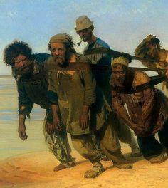 Ilya Repin: Volga boat draggers