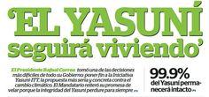 ElCiudadano.gob.ec | Yasuní seguirá viviendo - Yasuní seguirá viviendo Viernes, 23 de Agosto... | El Ciuda