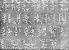images of letters for tracing from La Mode Illustrie 1867 catalog....all to be hand done!