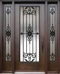 Resultado de imagen para portones de hierro forjado con vidrio