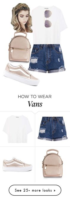 """..."" by pnrcalis on Polyvore featuring Vans, Vince, Quay and New Look"