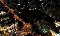 Massive +100 Thousand turnout to protest corruption in Brazil from yesterday