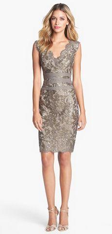 Embellished Metallic Lace Sheath Dress http://rstyle.me/n/egmdhn2bn