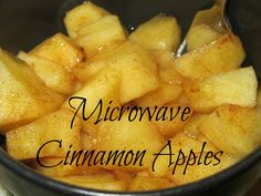 microwave cinnamon apples -- a yummy toddler treat!