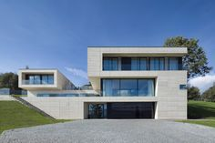 Built by Studio Pha in Decin, Czech Republic with date 2013. Images by Tomáš Dittrich. The initial task was mainly to find the right location for a home (villa) on a large area, with its orientation provi...