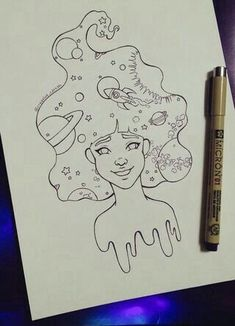 New lineart/coloring page complete for my Patreon supporters. Also a WIP … New lineart/coloring page complete for my Patreon supporters. Also a WIP because I plan on coloring it once i can record the process again. Space Drawings, Cool Art Drawings, Pencil Art Drawings, Doodle Drawings, Art Drawings Sketches, Easy Drawings, Tattoo Drawings, Doodle Art, Arte Inspo