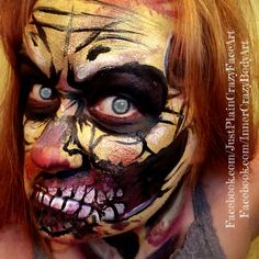 The Walking Dead Zombie face painting  Inspired by Pashur Artist- Marie Sulcoski  Zombify Undead zombies face paint