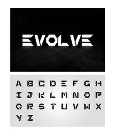 1x1.trans Evolve Font #FreeFont from http://ortheme.com