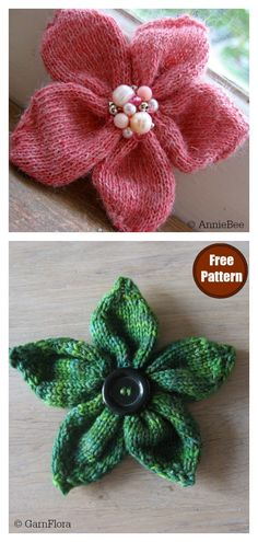 Quick and Easy Flower Free Knitting Pattern - Knitting for beginners,Knitting patterns,Knitting projects,Knitting cowl,Knitting blanket Beginner Knitting Projects, Knitting Blogs, Easy Knitting Patterns, Knitting Designs, Free Knitting, Stitch Patterns, Crochet Patterns, Knitting Ideas, Knitted Doll Patterns
