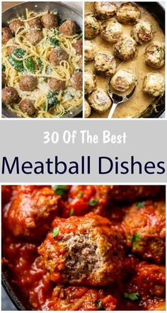 30 Best Meatball Dishes For Dinner - Meat Recipes Meat Recipes, Dinner Recipes, Cooking Recipes, Meatball Recipes, Healthy Recipes, Dinner Ideas, Salad Recipes, Recipies, Pasta