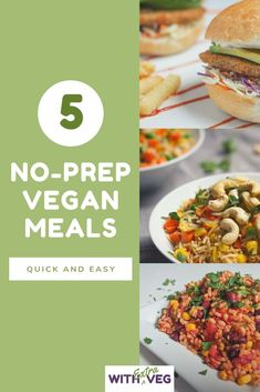 5 No-Prep Vegan Weeknight Meals Free Ebook - 5 Quick and Easy Vegan No Prep Meals for when you can& be bothered cooking Easy Vegan Dinner, Vegan Dinner Recipes, Healthy Eating Recipes, Vegan Snacks, Vegan Recipes Easy, Cooking Recipes, Superfood Recipes, Healthy Smoothies, Vegan Weeknight Meals