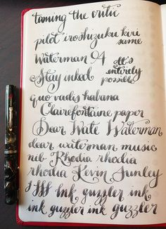 gorgeous handwriting | Azizah Asgarali of GourmetPens
