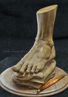 Foot Anatomy Study, John Chen on ArtStation at https://www.artstation.com/artwork/foot-anatomy-study