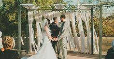 Wedding Ceremony, The Pera Club, Wedding Planner: Danielle Axtell Event Design & Coordination - Arizona Wedding   http://caratsandcake.com/wesleyandkyle