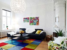 Luxury Contemporary Conventional Residing Room Style With Colorful Rug With Comfy Decoration - http://www.theikea.com/ikea-wall-decor-ideas/luxury-contemporary-conventional-residing-room-style-with-colorful-rug-with-comfy-decoration.html