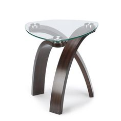 'Allure' Modern Glass-top Arch Legged Table - Overstock™ Shopping - Great Deals on Magnussen Home Furnishings Coffee, Sofa & End Tables
