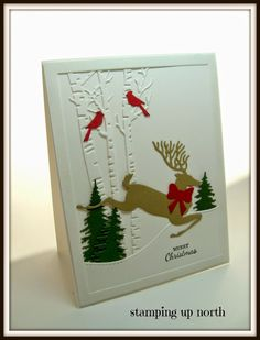 stamping up north, Christmas cards, Impression Obsession dies