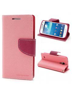 Mercury Δερμάτινη Θήκη Σιλικόνης με Βάση Στήριξης για Samsung Galaxy S4 mini i9190 i9192 - Φούξια/Ροζ