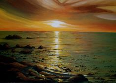 Atlantic Sunset...Best selling art prints and posters by Cherie Roe Dirksen