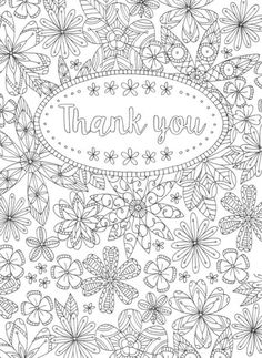 Coloring Pages Of Thank You Cards Coloring Pages Of