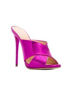 quality design d1760 4d758 Giuseppe Zanotti Design Sapato mule de couro modelo  Bella  Moda Feminina,  Calzado,