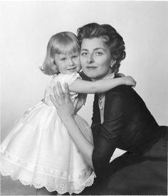 carolathhabsburg:  Princess Gina of Liechtenstein with her only daughter Princess Nora, 1950s