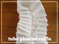 Ruffle, Ruffle, Ruffle Tutorial--types of ruffles, and a cute bedspread with lots of ruffles