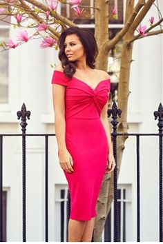 65d42db8a5 Jessica Wright Carolina Pink Bardot Bodycon Dress An ultra sophisticated  bodycon dress