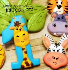 Jungle-Safari Party - jungle animal themed cookie collection