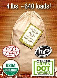 "Soap Nuts / Soap Berries - Certified Organic NaturOli Hand-sort ""Select"" Seedless - 4 lbs. - 640+ loads!    7 CENTS PER LOAD"