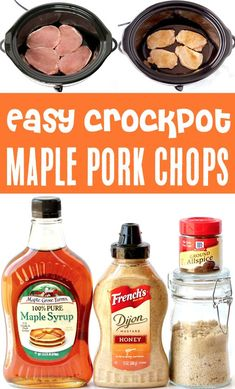 Crockpot Maple Brown Sugar Pork Chops Recipe! Easy dinners are perfect for busy weeknights, and this one will become a fast family favorite! Go grab the recipe and give it a try this week! Slow Cooker Creamed Corn, Creamed Corn Recipes, Easy Potato Recipes, Pork Chop Recipes, Easy Summer Meals, Easy Dinners, Summer Recipes, Fall Recipes, Dinner Recipes