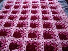 Crochet ~ Mitered Granny Square Afghan