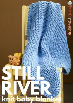 ~ Still River knit baby blanket
