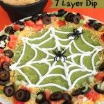 7 layer dip. Cute for a halloween party