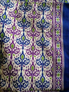 Boho fabric, Indian Fabric, Blue and purple, by the yard, printed border edge, Quilting Fabric,Tribal Print, by fiberstofabric. Explore more products on http://fiberstofabric.etsy.com