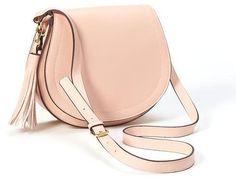 Faux-Leather Tassel Saddle Purse for Women