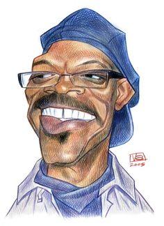 Samuel L. Jackson #Caricature #FunnyFaces