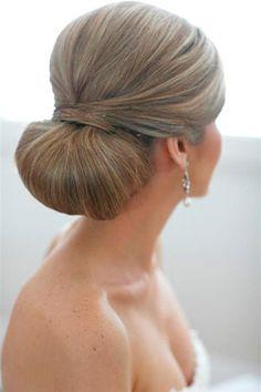 brides of adelaide magazine bridal hair wedding bun sleek chignon
