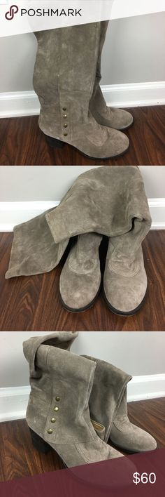 NINE WEST VINTAGE AMERICA TAUPE SUEDE BOOTS NINE WEST VINTAGE AMERICA TAUPE SUEDE BOOTS. Great. Condition, barely worn. Very soft suede. Size 8.5 Nine West Shoes Heeled Boots