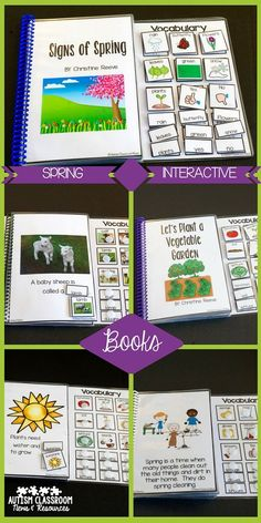I love these 5 Spring Interactive Books. They are a great addition to anyone's special ed library.  They are great for special education and speech therapists to use in storytime and morning meeting.  The pictures are interactive with words and pictures so they are easy to differentiate.  This set has a spring theme and includes 1 book of photos, 1 book of verbs, 3 books of nouns or nouns and verbs.