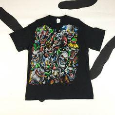 90s Creepy Clown T shirt / Killer Klowns / Nu Metal / Size Medium / Goth / Club Kid / Spooky /