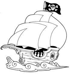 Ausmalbild Sommer: Segelschiff kostenlos ausdrucken