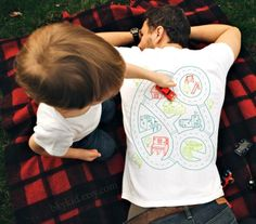 Car Play Mat T-Shirt – Play Time For The Kids, Back Massage For The Parents, $22
