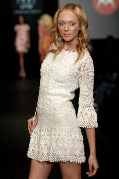 WHITE Crochet Dress for Women. Lace Crochet Dress. Bohemian Wedding Dress with Long Sleeves. Short Wedding Dress. Fairy Wedding Dress.