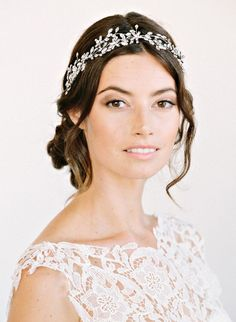 wedding hairstyles with headband | Bridal Headbands can be a great wedding headpiece when worn with a ...